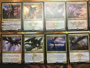 Five Color Dragon Deck - Custom MTG Magic the Gathering Many Rares Ready To Play