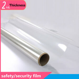 HOHOFILM PET material 2mil/0.05mm Safety Film Protection Bullet Proof 1.83*5m