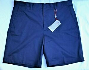 Fennec Super Soft Cotton/Spandex Flat Front Casual Navy Shorts NWT SALE: $16.99
