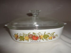 Corning Ware A-8-B Spice Of Life 1.5 Quart Casserole Dish L'Echalote With Lid