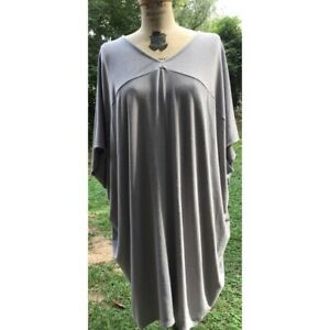 Hatch Collection Maternity The Slouch Dress Caftan Gray RAYON RARE!