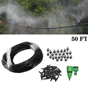 Misting Cooling System Outdoor Lawn Irrigation Patio Garden Water Mister Nozzles