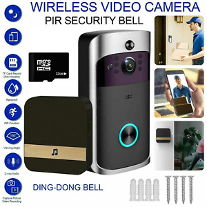 WiFi Wireless Video PIR Doorbell Two-Way Door Bell Talk Smart Security HD Camera
