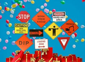 Construction Party Signs. Cardboard Signs perfect for Party or Room Decor