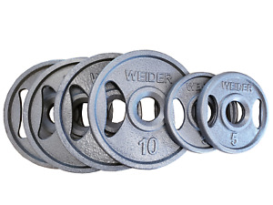 Weider Olympic Plates 10 x 4; 5 x 2 - 50lbs Total