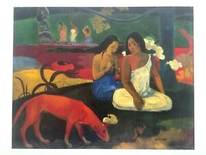 PAUL GAUGUIN RARE VINTAGE 1994 FRENCH LITHOGRAPH ART PRINT quot; AREARED quot; 1892 $220.00