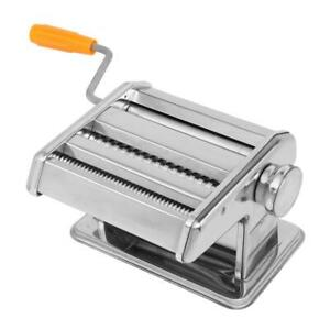 Stainless Steel Fresh Pasta Maker Roller Spaghetti Machine for Dual-Blade Silver