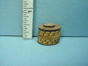 Miniature Sewing Basket Wood Small No Handle 1 12th Scale $8.95