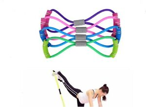 Stretch Band Rope Latex Rubber Arm Resistance Fitness Exercise Pilates Yoga Gym $6.80