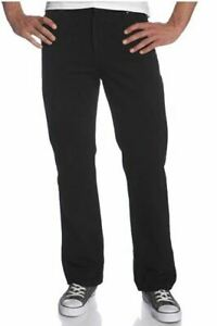 Mens Lee Regular Fit Straight Leg Opening Jeans Double Black 34W x 29L NWT