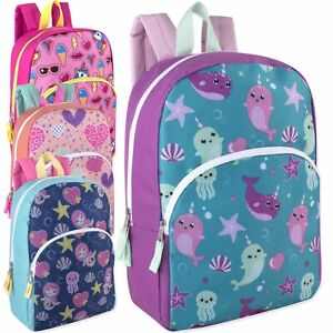 Wholesale Lot of 24: Trailmaker 15 Inch Character Backpacks (CampSchool)