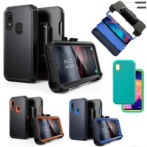For Samsung Galaxy A20 A30 A50 Case Belt Clip Holster Stand Hybrid Phone Cover