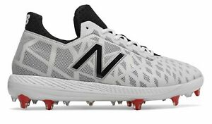 New Balance Low-Cut COMPv1 TPU Baseball Cleat Mens Shoes White with Black