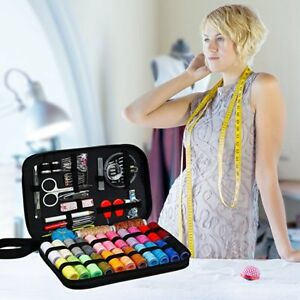 Sewing Kit with 99 Sewing Accessories 24 Spools of Thread 24 Color for Family $10.09