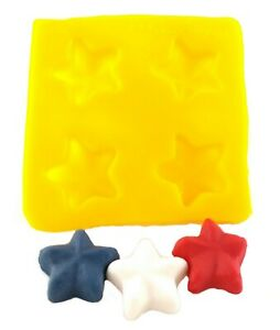 Star Cream Cheese Mint Candy Fondant Chocolate Soap Mold 4 Wedding Mothers Day