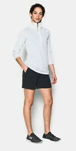 UNDER ARMOUR Golf Women's Fitted Shorts SZ: 10 Black Poly Spandex Performance $34.95