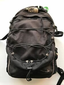 THE NORTH FACE BOREALIS BACKPACK BLACK OUTDOORS HIKING CAMPING USED