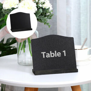 Wood Mini Chalkboard Sign with Easel Stand for Wedding Messages Double-side Sign
