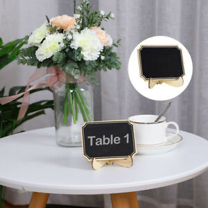 Wood Mini Chalkboard Sign Tags with Base Stand for Weddings Message Board Signs