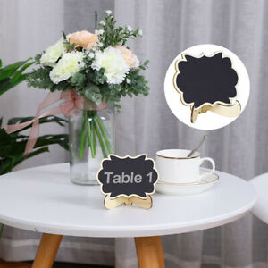 Wood Mini Chalkboard Sign Tags with Easel Stand for Wedding Message Board Sign