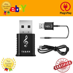 Bluetooth 5.0 USB Wireless Transmitter Adapter Dongle Receiver with Audio Stereo