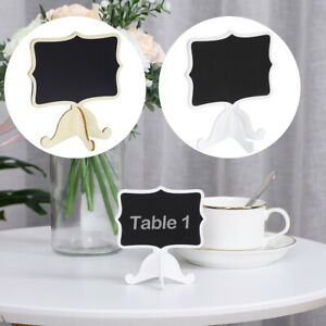 Wood Mini Chalkboard Signs Tags with Support Easel DIY for Memo Message Board