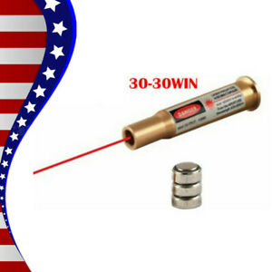 High CAL Brass 30-30WIN Red Laser Cartridge Bore Sighter Bullet Shaped Boresight