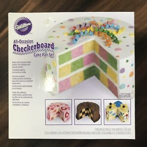 Wilton All-Occasion Checkerboard Cake Pan Set 3 Pans 9