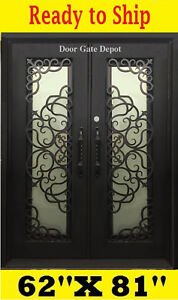 GREAT DESIGN WROUGHT IRON DOORS DARK BRONZE  62''x81'' DGD1071