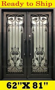 GREAT DESIGN WROUGHT IRON DOORS DARK BRONZE  62''x81'' DGD1206