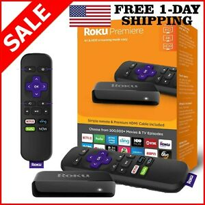 Roku Premier 4K Ultra HD Streaming TV Box Streaming Mediа Player Wi-Fi IR Remote