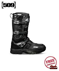 509 VELO RAID SNOWMOBILE SNOW BIKE BOOTS STEALTH BLACK WATERPROOF INSULATED