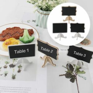 Wood Mini Chalkboard Sign Tags with Easel Stand for Wedding Message Board Signs
