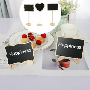 DIY Mini Wood Chalkboard Sign with Easel Stand for Wedding Party Board Sign
