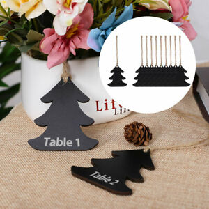 Wood Mini Chalkboard Signs Tags with Hanging Rope for Weddings Message Sign