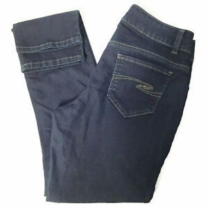 Riders By Lee Curvy Fit Midrise Skinny Jeans Womens Size 6M Dark Wash Stretch