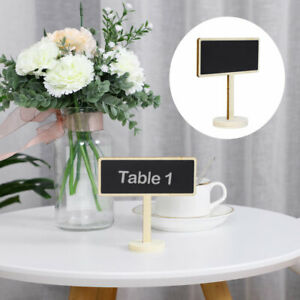 Wood Mini Chalkboard Tags with Base Stand for DIY Shop Message Board Signs