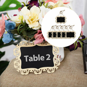Mini Hollow Lace Chalkboard Signs Tags with Hanging Rope for Wedding Sign