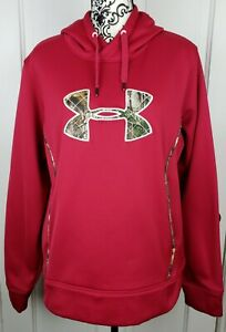Under Armour Womens Storm Caliber Hunting Hoodie Camo Pink XL 1247106