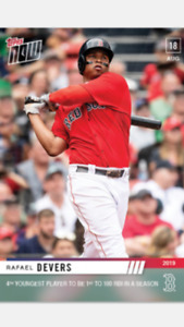 2019 TOPPS NOW CARD BOSTON RED SOX RAFAEL DEVERS #706 4th YOUNGEST TO 100 RBIs