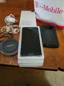 Samsung Galaxy Note5 - 32GB - Black Sapphire (T-Mobile) + EXTRAS