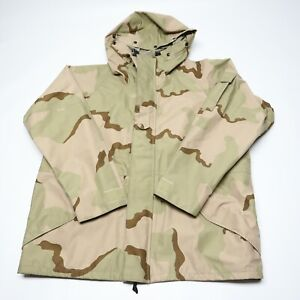 US Military Army Parka Cold Weather GoreTex Desert Camo MEN's Size Large Regular