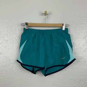 Nike Womens Sz XS 5K Tempo Running Shorts Teal Blue Lined