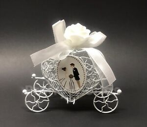 Wedding Decoration Fillable Candy Carriage Bride Groom Heart Table Decoration