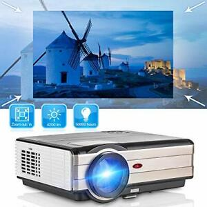Projector 4200 Lumens Home Theater Projector LED LCD (Video Projector-4200 Lux)