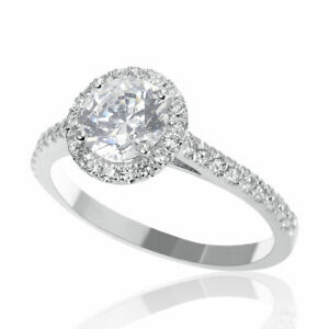 1 CT Elegant Natural Diamond Engagement Ring Round Cut FSI1 14K Yellow Gold