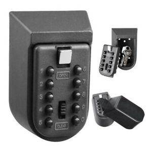 Outdoor Wall Mounted Key Safe Box Secure Lock High Security Combination P3B6I