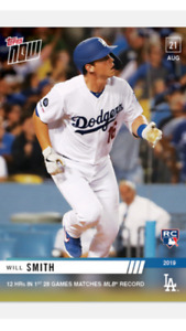 2019 TOPPS NOW ROOKIE CARD LOS ANGELES DODGERS WILL SMITH #730 12 HRs IN 28 GAME