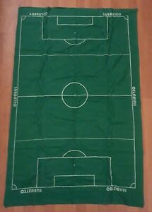 Subbuteo Set M: Green Baize Playing Pitch Cloth Rare Football Accessories Q