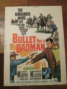 Bullet For A badman  - 30 x 40   Movie Poster - Audie Murphy